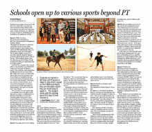 Schools open up to various sports beyond PT